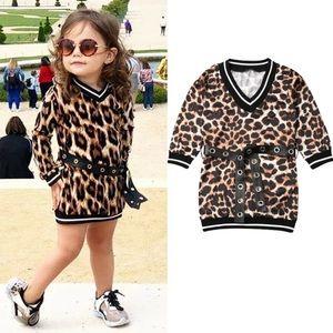 KIDS animal print Tunic dress